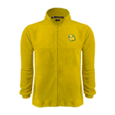 Fleece Full Zip Gold Jacket-Lion Head