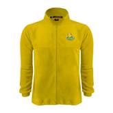 Fleece Full Zip Gold Jacket-MSSU Lions w/Lion Head On Top