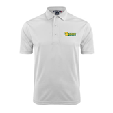 White Dry Mesh Polo-MSSU Lions w/Lion Head