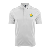 White Dry Mesh Polo-Lion Head