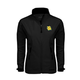 Ladies Black Softshell Jacket-Lion Head
