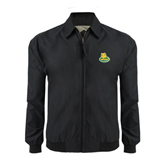 Black Players Jacket-MSSU Lions w/Lion Head On Top