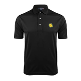 Black Dry Mesh Polo-Lion Head