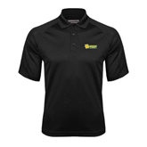 Black Textured Saddle Shoulder Polo-MSSU Lions w/Lion Head