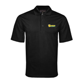 Black Mini Stripe Polo-MSSU Lions w/Lion Head