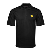 Black Mini Stripe Polo-Lion Head