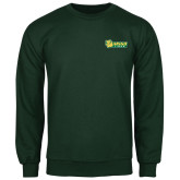 Dark Green Fleece Crew-MSSU Lions w/Lion Head