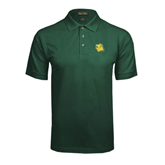 Dark Green Pique Polo-Lion Head