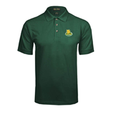 Dark Green Pique Polo-MSSU Lions w/Lion Head On Top