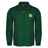 Full Zip Dark Green Wind Jacket-Lion Head