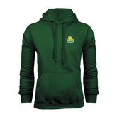 Dark Green Fleece Hood-MSSU Lions w/Lion Head On Top