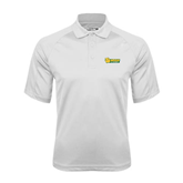 White Textured Saddle Shoulder Polo-MSSU Lions w/Lion Head