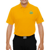 Under Armour Gold Performance Polo-MSSU Lions w/Lion Head On Top