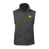 Fleece Full Zip Charcoal Vest-Lion Head