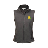 Ladies Fleece Full Zip Steel Grey Vest-Lion Head