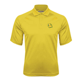 Gold Textured Saddle Shoulder Polo-Lion Head