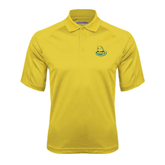 Gold Textured Saddle Shoulder Polo-MSSU Lions w/Lion Head On Top
