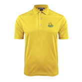 Gold Dry Mesh Polo-MSSU Lions w/Lion Head On Top