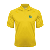 Gold Dri Mesh Pro Polo-MSSU Lions w/Lion Head On Top