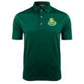 Dark Green Dry Mesh Polo-MSSU Lions w/Lion Head On Top