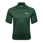 Dark Green Textured Saddle Shoulder Polo-MSSU Lions w/Lion Head