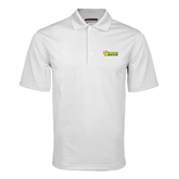 White Mini Stripe Polo-MSSU Lions w/Lion Head