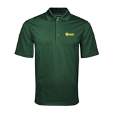 Dark Green Mini Stripe Polo-MSSU Lions w/Lion Head