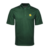 Dark Green Mini Stripe Polo-Lion Head