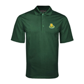 Dark Green Mini Stripe Polo-MSSU Lions w/Lion Head On Top