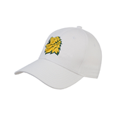 White Heavyweight Twill Pro Style Hat-Lion Head