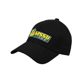 Black Heavyweight Twill Pro Style Hat-MSSU Lions w/Lion Head