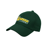 Dk Green Heavyweight Twill Pro Style Hat-MSSU Lions w/Lion Head