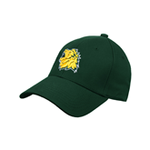 Dk Green Heavyweight Twill Pro Style Hat-Lion Head