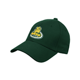 Dk Green Heavyweight Twill Pro Style Hat-MSSU Lions w/Lion Head On Top