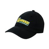 Black OttoFlex Unstructured Low Profile Hat-MSSU Lions w/Lion Head