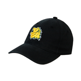 Black OttoFlex Unstructured Low Profile Hat-Lion Head