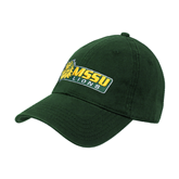 Dk Green Twill Unstructured Low Profile Hat-MSSU Lions w/Lion Head