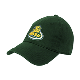 Dk Green Twill Unstructured Low Profile Hat-MSSU Lions w/Lion Head On Top