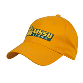 Gold Heavyweight Twill Pro Style Hat-MSSU Lions w/Lion Head