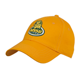 Gold Heavyweight Twill Pro Style Hat-MSSU Lions w/Lion Head On Top