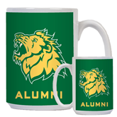 Alumni Full Color White Mug 15oz-Lion Head