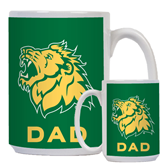Dad Full Color White Mug 15oz-Lion Head