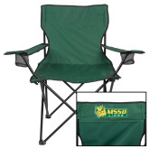 Deluxe Green Captains Chair-MSSU Lions w/Lion Head