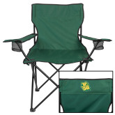 Deluxe Green Captains Chair-Lion Head