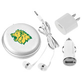 3 in 1 White Audio Travel Kit-Lion Head