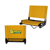 Stadium Chair Gold-MSSU Lions w/Lion Head