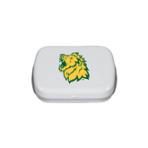 White Rectangular Peppermint Tin-Lion Head