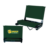 Stadium Chair Dark Green-MSSU Lions w/Lion Head