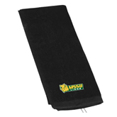 Black Golf Towel-MSSU Lions w/Lion Head