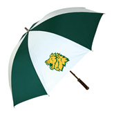 62 Inch Forest Green/White Umbrella-Lion Head